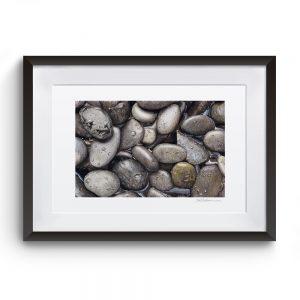 Cuadro Piedras 52 x 43 cm marco negro