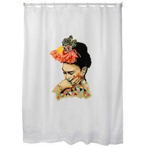 Cortina Frida Kahlo de baño 1