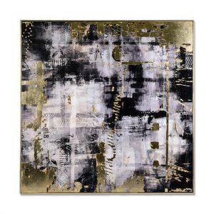 Cuadro Decorativo Abstracto Negro 1