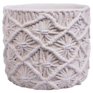 Maceta Croché Marfil 1